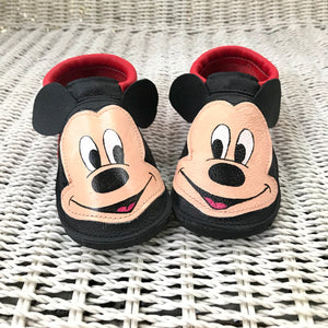 Mouse Moccs with rubber soles