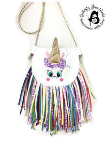 Unicorn fringe purse