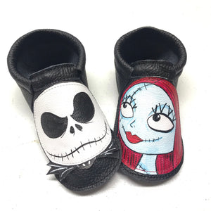 Halloween Skeleton couple shoes with rubber soles