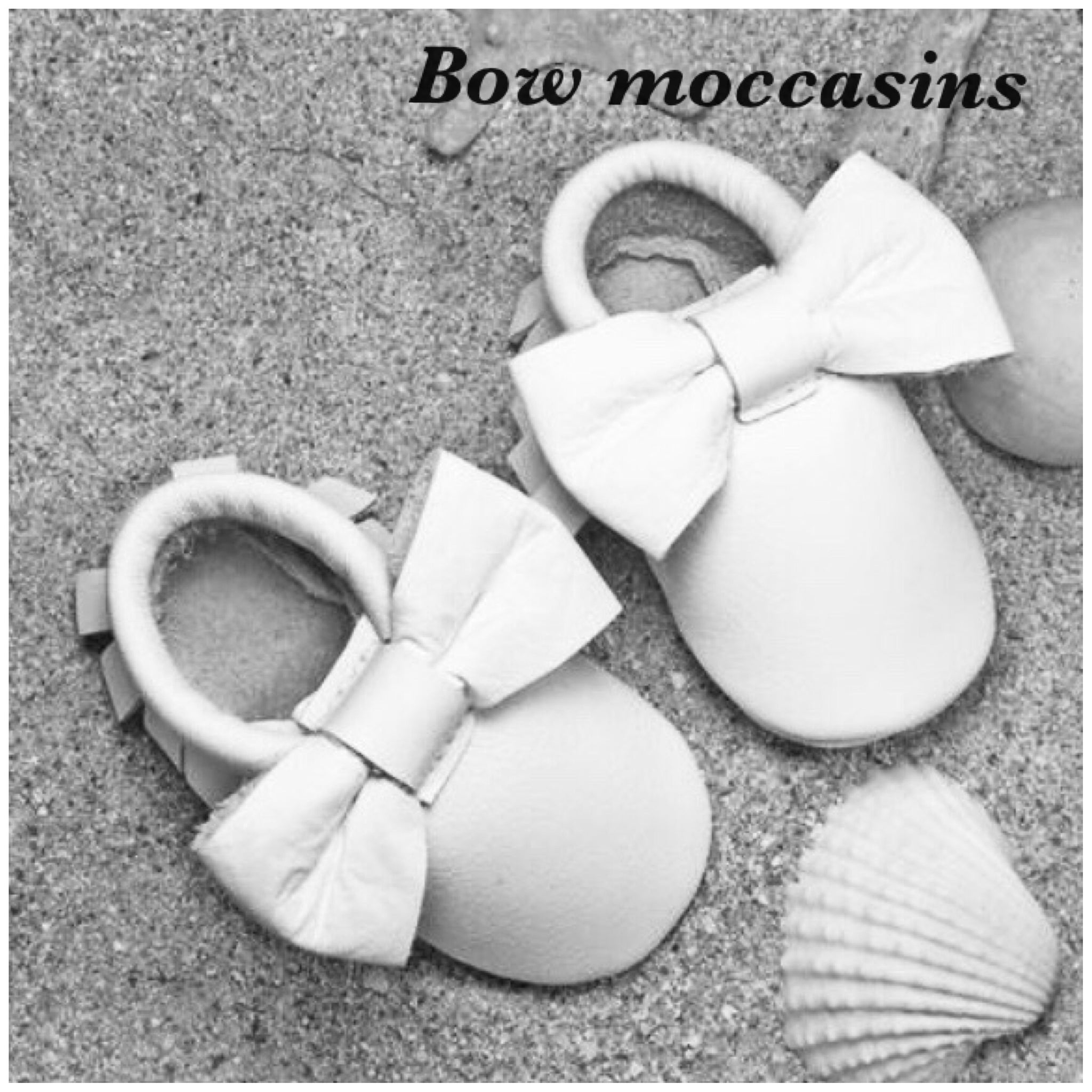 Light Grey Baby Leather Moccasins