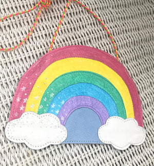 Rainbow toddler purse