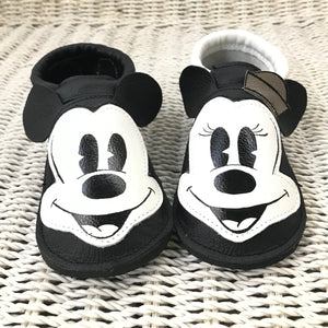 Vintage couple mouse Moccs with rubber soles