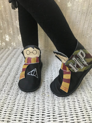HP high top moccasin booties