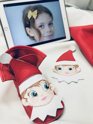Elf on a shelf ankle booties