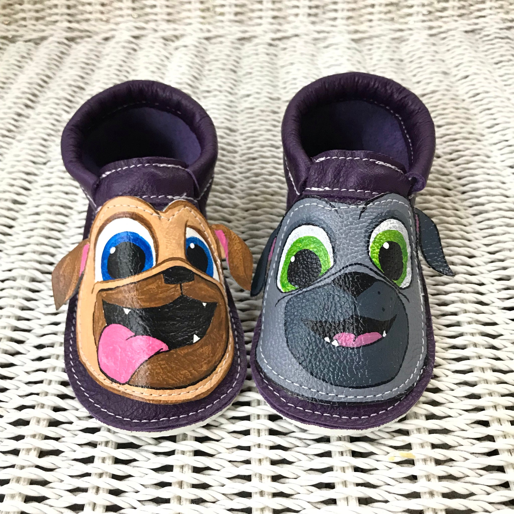 Puppy Moccs with rubber soles