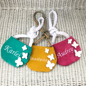 Personalized butterfly purse