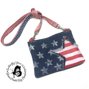 Patriotic American flag purse