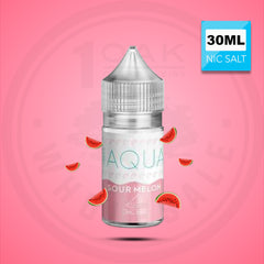 AQUA SALTS SOUR MELON 30ML NICOTINE SALT VAPE EJUICE 1 OAK WHOLESALE