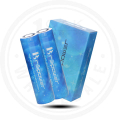 BRILLIPOWER - IMR18650 3100MAH 50A BATTERY 2PACK