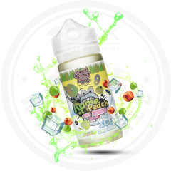 CANDY SHOP - APPLE PEACH SOUR RINGS ON ICE 100ML