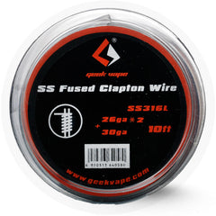 GEEK VAPE - SS FUSED CLAPTON WIRE SS316L (26GAX2 PARALLEL+30GA) 10FT