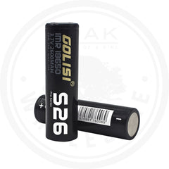 GOLISI S26 18650 2600MAH 25A BATTERY 2PACK 1 OAK WHOLESALE