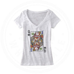 QUEEN OF CONCENTRATES - BURNOUT V-NECK