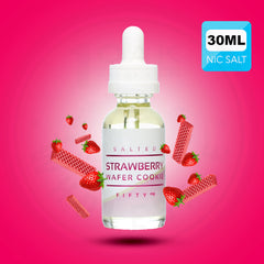 SALT DROPS - SALTED STRAWBERRY WAFER COOKIE 30ML