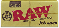 RAW - CLASSIC ARTESANO KING SIZE SLIM ROLLING PAPERS