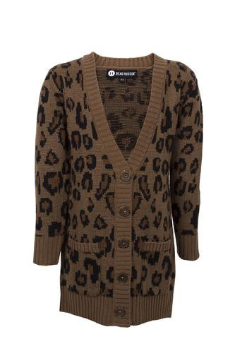 Beau Hudson - Chunky Leopard Knit Cardigan - Infant/Toddler