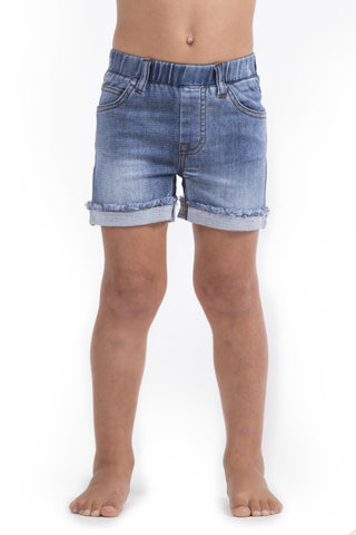 Beau Hudson - Blue Denim Jeg Shorts