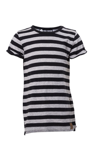 Beau Hudson - Black and Gray Striped T Shirt