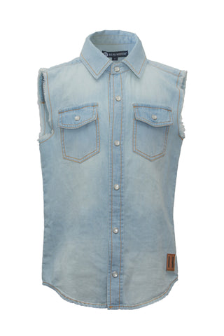 Beau Hudson - Chambray Sleeveless Vest