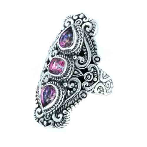 RASCAL PINK™ MYSTIC TOPAZ AND ENGLISH TEAROSE™ MYSTIC TOPAZ RING