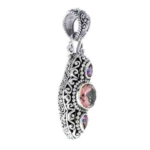 ALWAYS TRUE ROSE™ MYSTC QUARTZ AND MAGNIFIQUE SUNRISE™ MYSTIC TOPAZ PENDANT