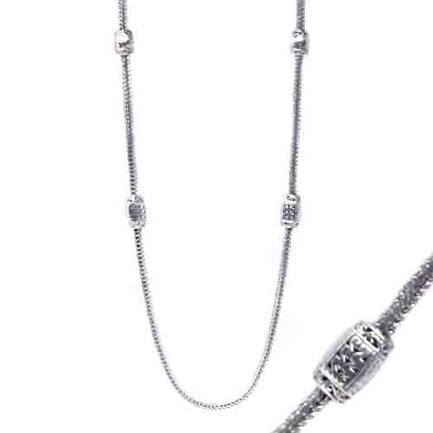 STERLING SILVER 36 INCH NECKLACE WITH 4 INCH EXTENDER