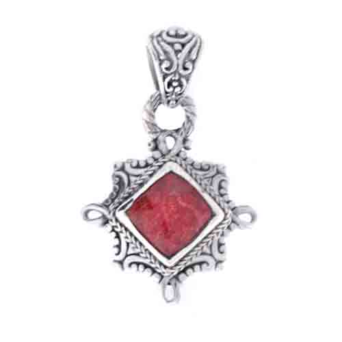 RED BAMBOO CORAL PENDANT