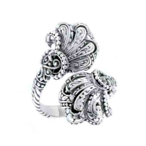 STERLING SILVER FILIGREE FAN RING