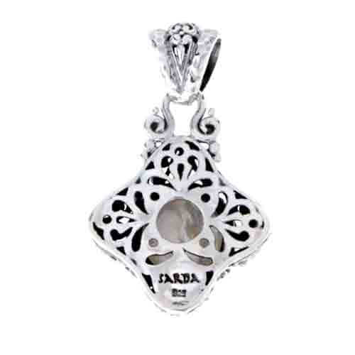 CULTURED WHITE MABE PEARL PENDANT