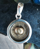 Antique Flower Button Pendant