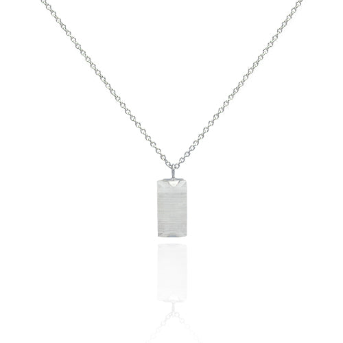 Long sterling silver single pendent necklace