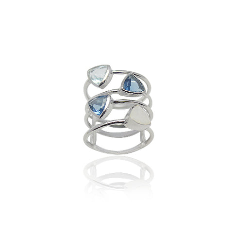 MULTI-STONE STERLING RING