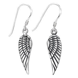 Sterling Silver Wing Earrings