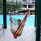 Chair Hammock Multicolor With Wood Bar