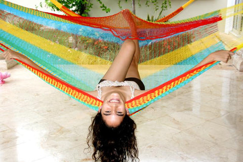 Double Size Hammocks Multicolored Mayan Style