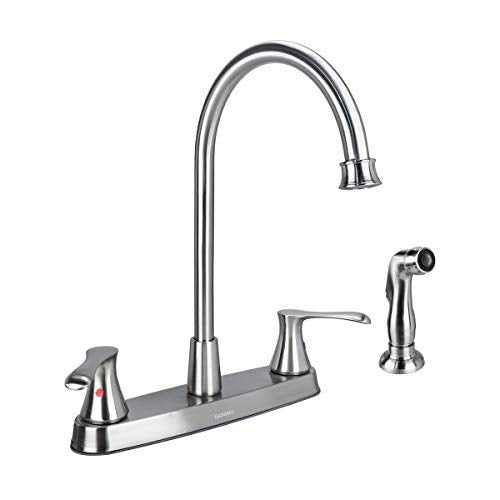 Gowin Brushed Nickel Kitchen Faucet With Side Sprayer Phantom Tag Protector