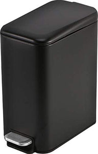 1.3 Gallon- Rectangular Small Steel Step Trash Can Wastebasket,Stainless Steel