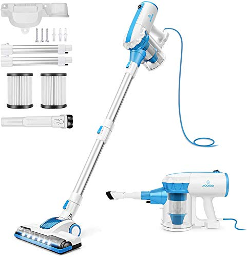 4 in 1 Stick Vacuum 17000pa Powerful Suction, with LED Electric Brush /Blue