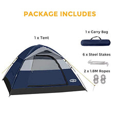 Camping Tent 2 Person Family Dome Tent with Removable Rain Fly, Easy Set Up
