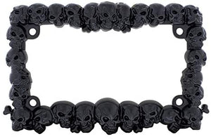 United Pacific Black Skull Motorcycle License Plate Frame