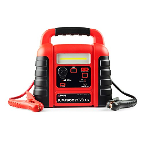 Wagan EL7552 Jumpboost V8 Air 1000 Peak Amps Jump Starter with 260 PSI Air Compressor