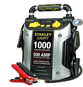 Portable Power Station Jump Starter: 1000 Peak/500 Instant Amps, 120 PSI Air Compressor