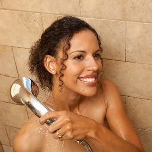 Shower Head w/Hose Equipped with Adjustable Spray Wand and Advanced ThermalGuard (Chrome)
