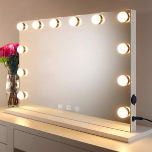 HOMPEN Vanity Mirror Makeup Mirror with Lights,Large Hollywood Lighted Vanity Mirror