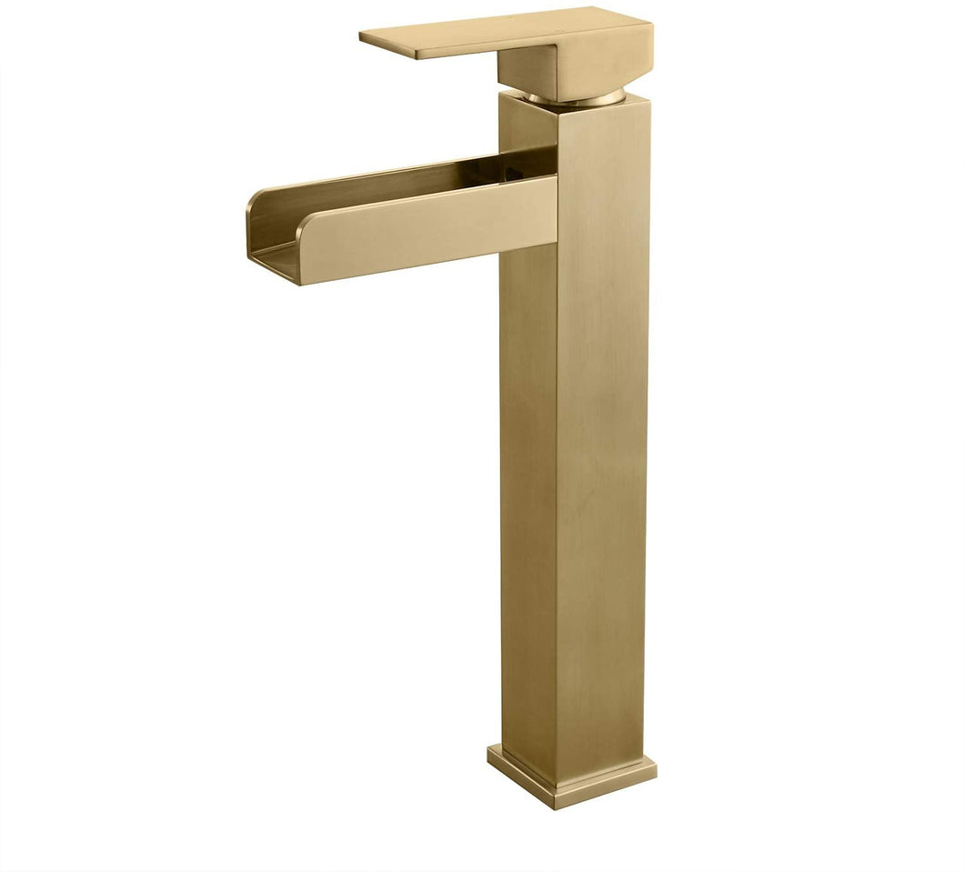 Hole Bathroom Faucet in Brushed Gold Finish cUPC Certified
