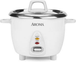 Aroma Housewares Select Stainless Rice Cooker & Warmer with Uncoated Inner Pot