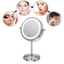 Standing 360 Degree Swivel Vanity Mirror Battery Operated 7 Inch