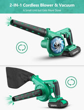 20V Cordless Leaf Blower, Carrying Bag for Blowing Leaf/Snow/Dust.