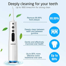 Cordless Water Flosser Teeth Cleaner, INSMART 360ML Water