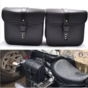 Motorcycle Universal Leather PU Waterproof Saddlebags Softailfor Scooter Honda Suzuki Yamaha